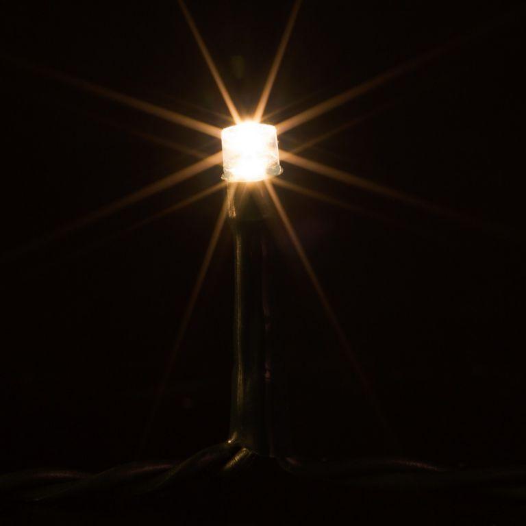 Vánoční LED osvětlení 40 m - teple bílá 400 LED - zelený kabel