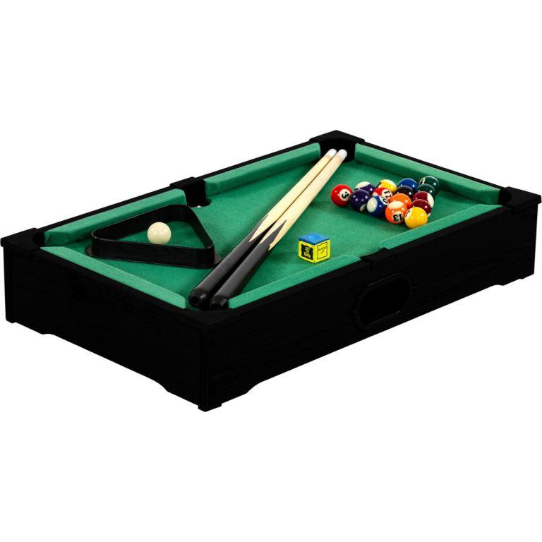 Mini kulečník pool s příslušenstvím 51 x 31 x 10 cm – černý