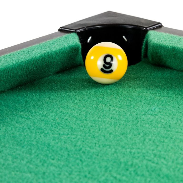 Mini kulečník pool s příslušenstvím 51 x 31 x 10 cm - černý