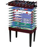 Multifunkční herní stůl 15 v 1 - tmavě hnědý