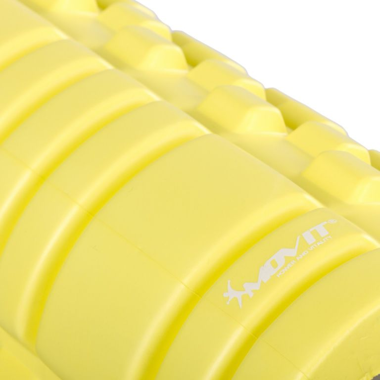 Posilovací masážní válec – FITNESS ROLLER MOVIT citronová