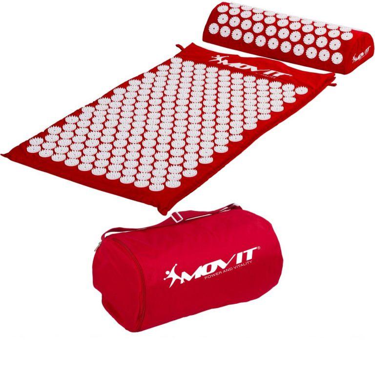 Akupresurní podložka s polštářem MOVIT 75 x 44 cm - červená