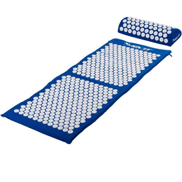 Akupresurní podložka s polštářem MOVIT 130 x 50 cm - modrá
