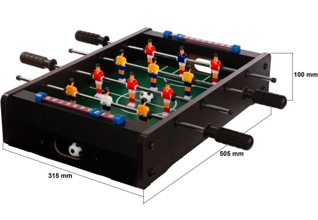 MAX 40692 Mini stolní fotbal 51 x 31 x 8 cm - černý