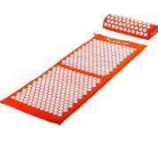 MOVIT Akupresurní podložka s polštářem 130 x 50 cm - oranžová
