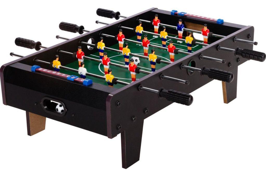 OEM Mini stolní fotbal fotbálek s nožičkami 70 x 37 x 25 cm černý M43251