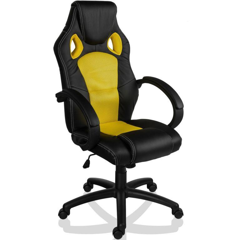 Otočná kancelářská židle GS Series – žlutá