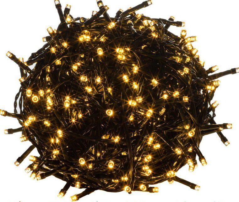 Voltronic 46905 Vánoční LED osvětlení 5 m - teple bílá 50 LED - zelený kabel