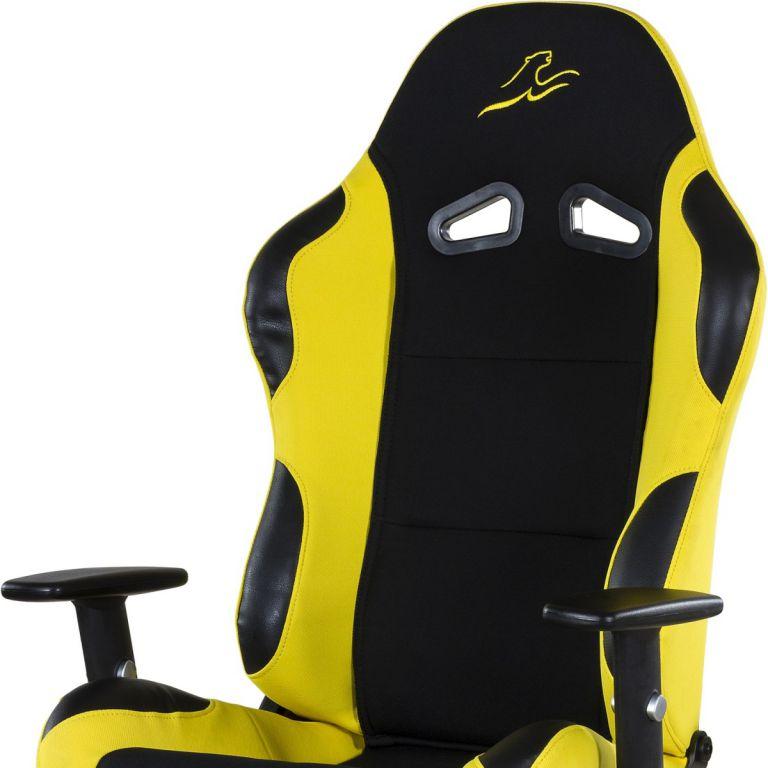 Kancelářská židle RACEMASTER RS Series - černá/žlutá