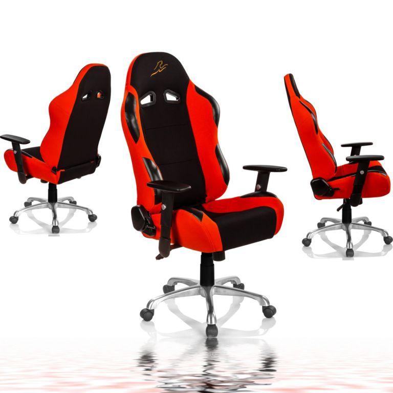 Kancelářská židle RACEMASTER RS Series - černá/oranžová