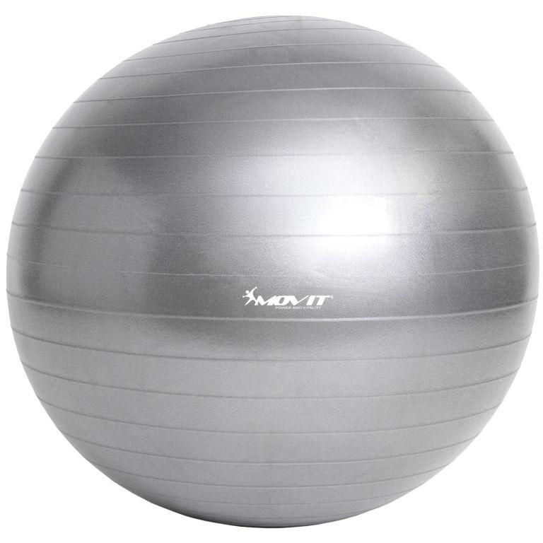 MOVIT 54089 Gymnastický míč s pumpou - 55 cm - stříbrný
