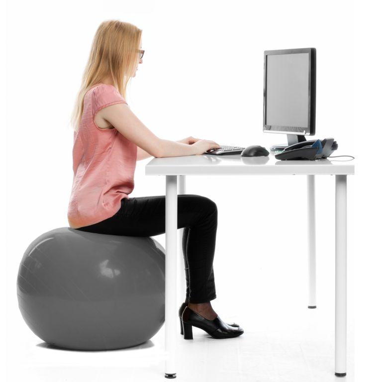 Gymnastický míč MOVIT s pumpou - 55 cm - růžový