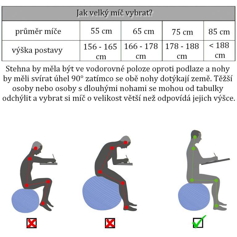 Gymnastický míč MOVIT s pumpou - 55 cm - fialový