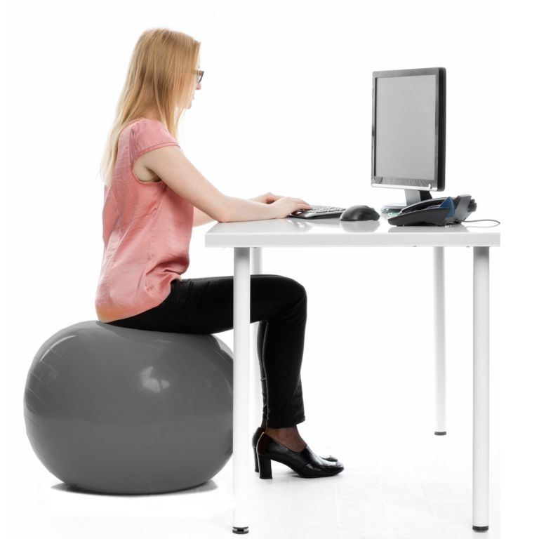 Gymnastický míč MOVIT s pumpou - 85 cm - modrý
