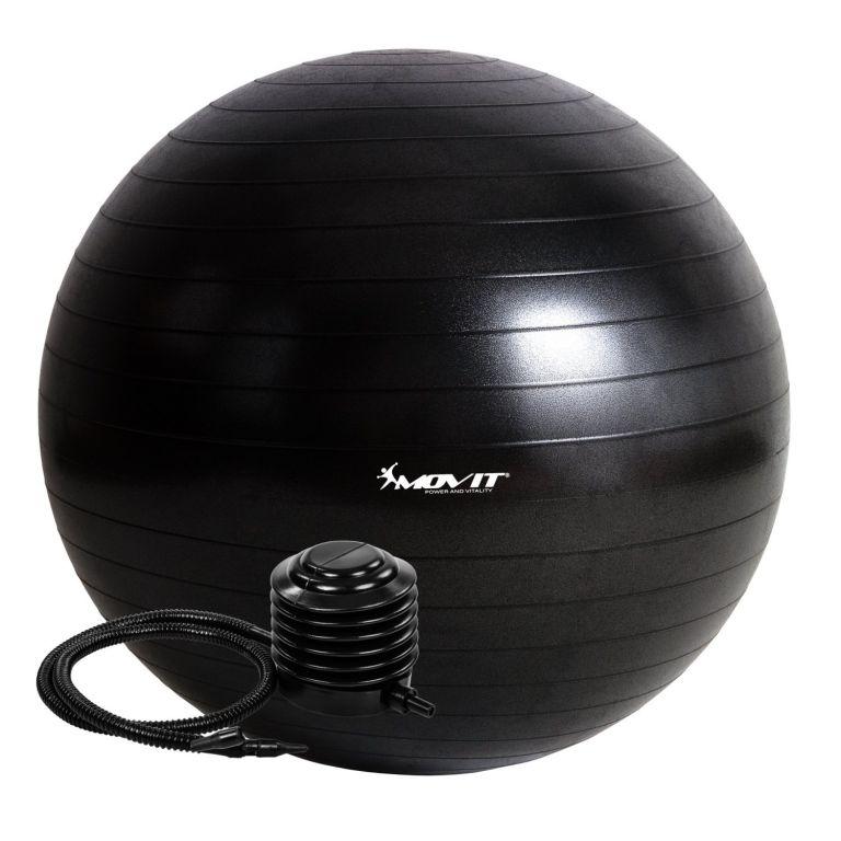 MOVIT 54105 Gymnastický míč s pumpou - 65 cm - černá
