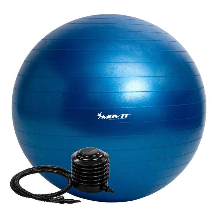 MOVIT 54110 Gymnastický míč s pumpou - 75 cm - modrá