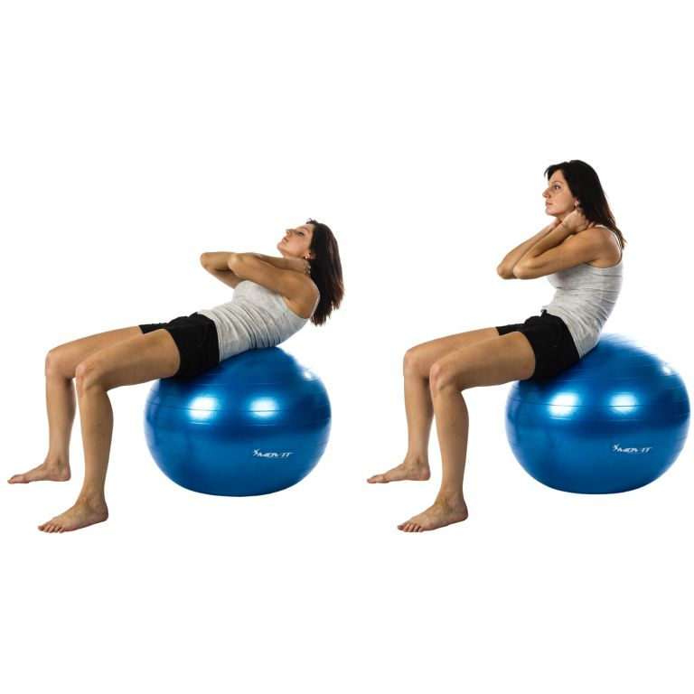 Gymnastický míč MOVIT s pumpou - 75 cm - růžová