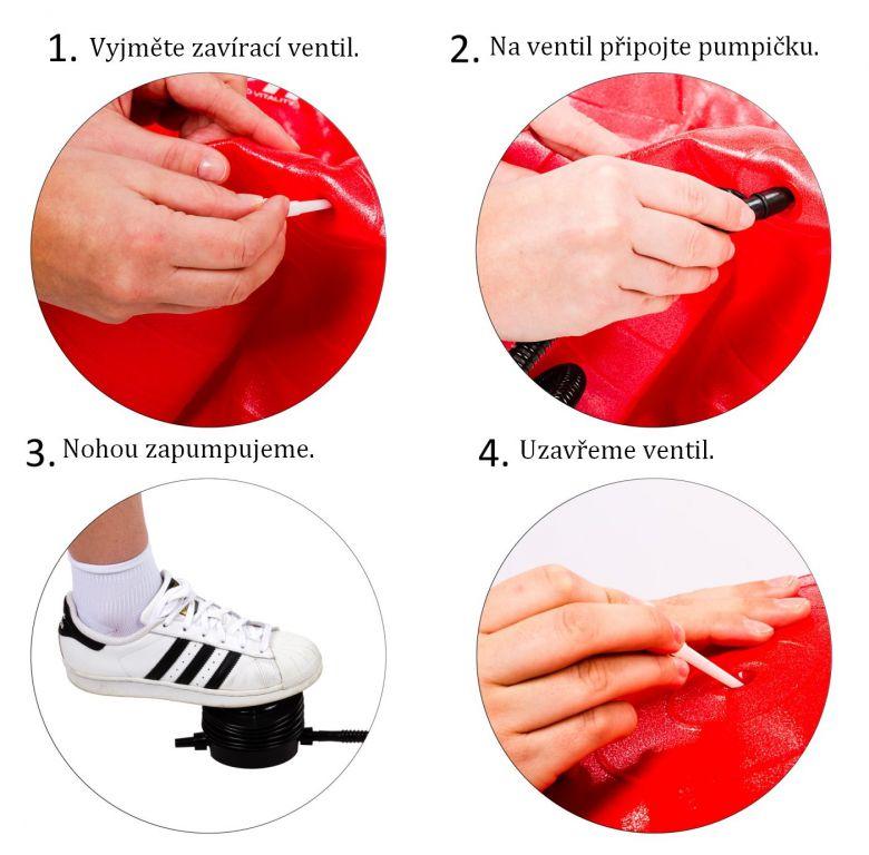 Gymnastický míč MOVIT s pumpou - 75 cm - fialová