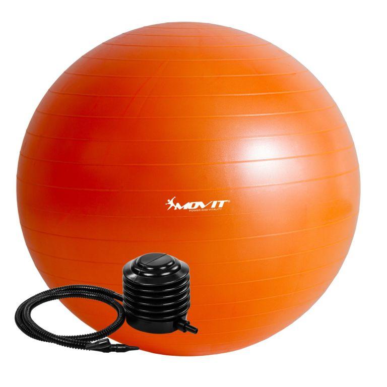 Gymnastický míč MOVIT s pumpou – 75 cm – oranžová
