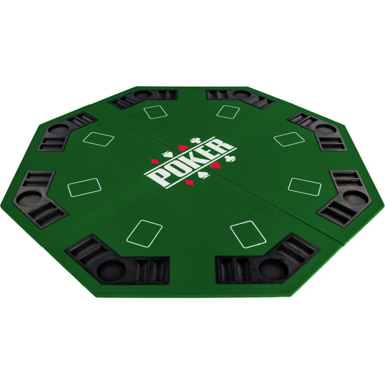 Skládací pokerová podložka - zelená