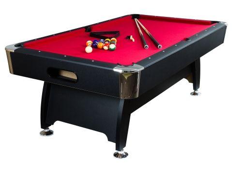 Kulečníkový stůl pool billiard kulečník 8 ft s vybavením - NEPATRNĚ POŠKOZENÝ