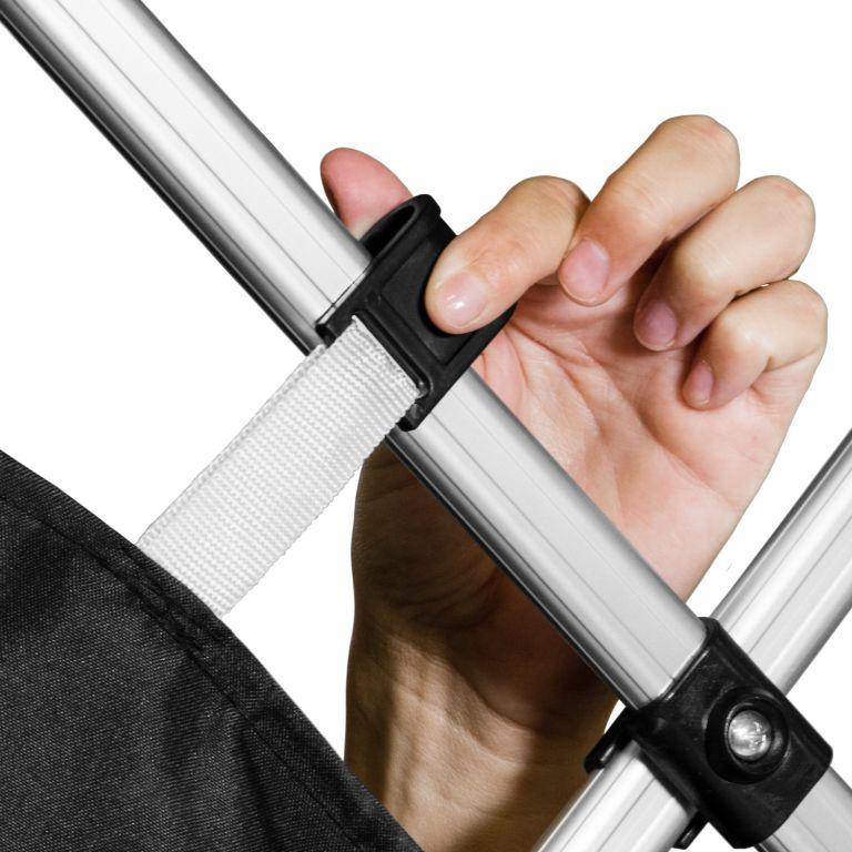 Zahradní párty stan nůžkový INSTENT BASIC 3×3 m  – černý