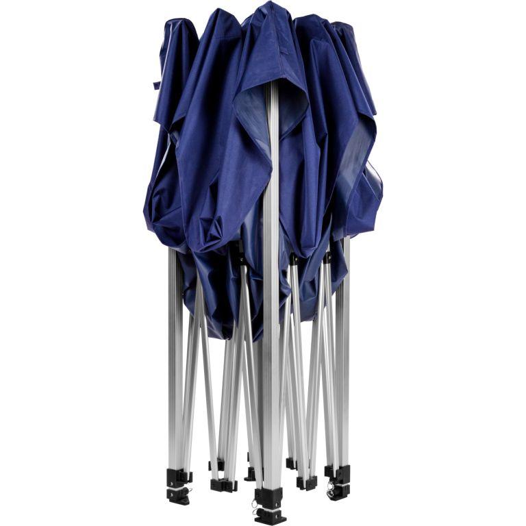 Zahradní párty stan nůžkový INSTENT  3 x 3 m + 2 boční stěny – modrý