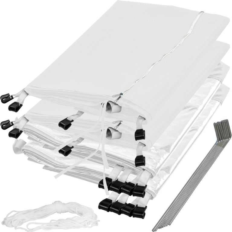 Zahradní párty stan nůžkový INSTENT 3×3 m + 4 boční stěny – bílý