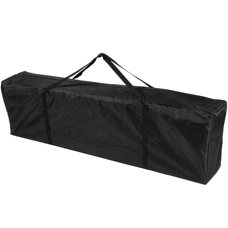 Zahradní párty stan Stilista nůžkový 3x3 m + 2 bočnice - černý