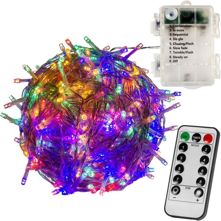 Vánoční LED osvětlení 10 m - barevné 100 LED + ovladač BATERIE VOLTRONIC® M59577