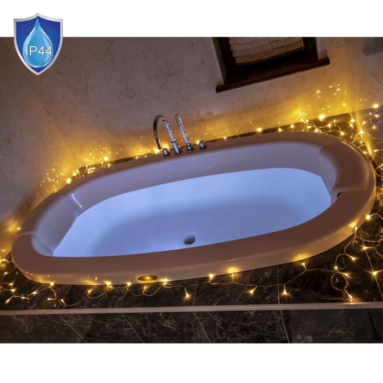 Vánoční LED osvětlení - 10 m,100 LED, teple bílé, na baterie