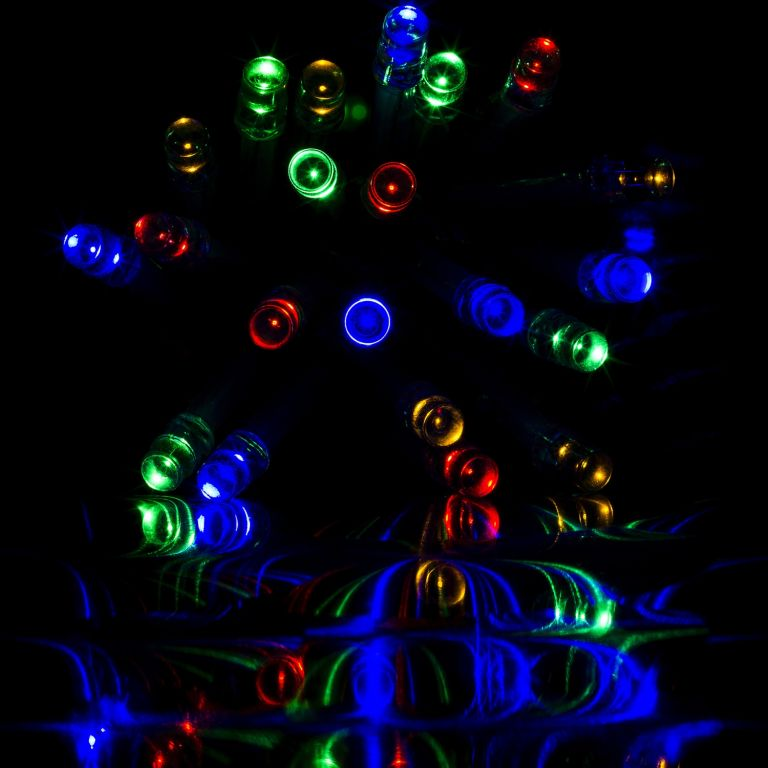 Vánoční LED osvětlení - 10 m, 100 LED, barevné, na baterie
