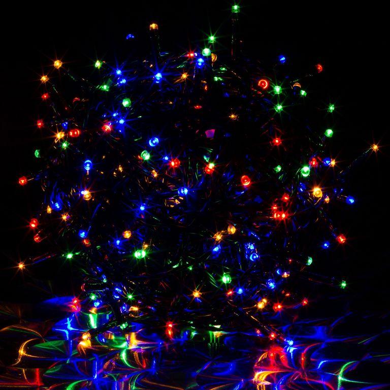 Vánoční LED osvětlení 10 m - barevné 100 LED BATERIE
