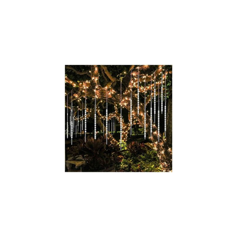 Vánoční LED osvětlení - padající sníh - 480 LED studená bílá