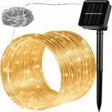 Solární světelná hadice - 100 LED teple bílá VOLTRONIC