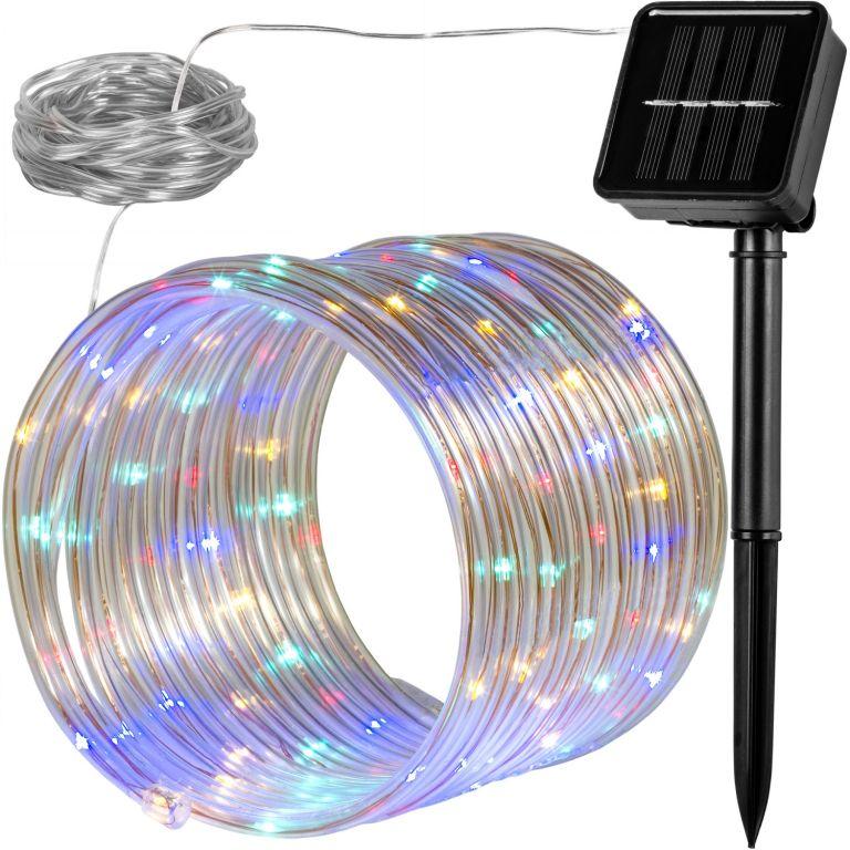 Solární světelná hadice – 100 LED barevná VOLTRONIC