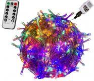 Vánoční LED osvětlení - 40 m, 400 LED, barevné + ovladač