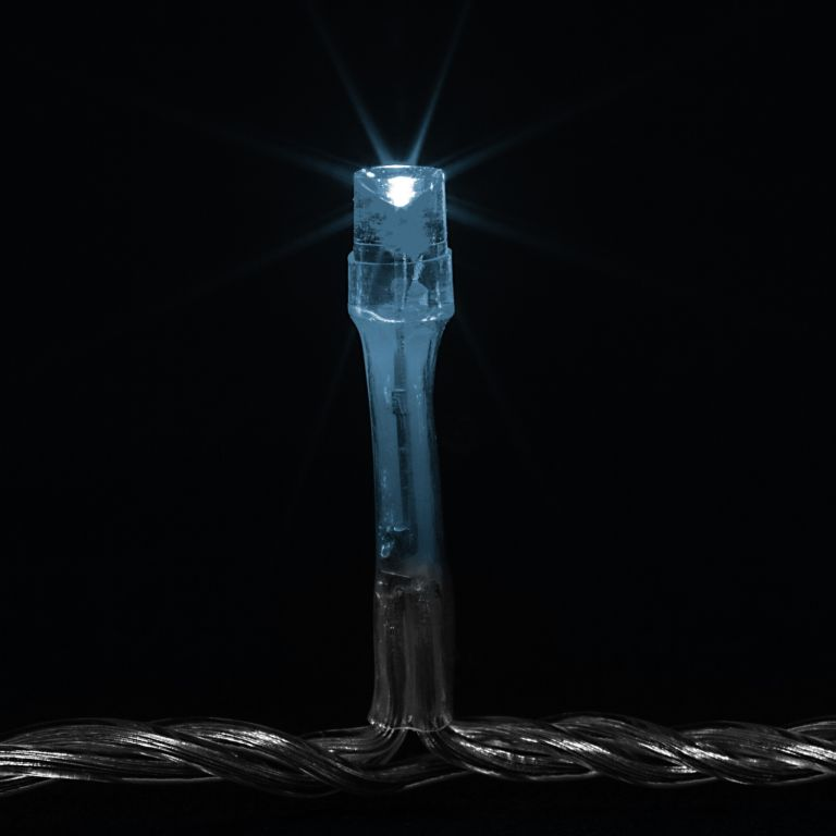 Vánoční LED osvětlení 10 m - studená bílá 100 LED + ovladač