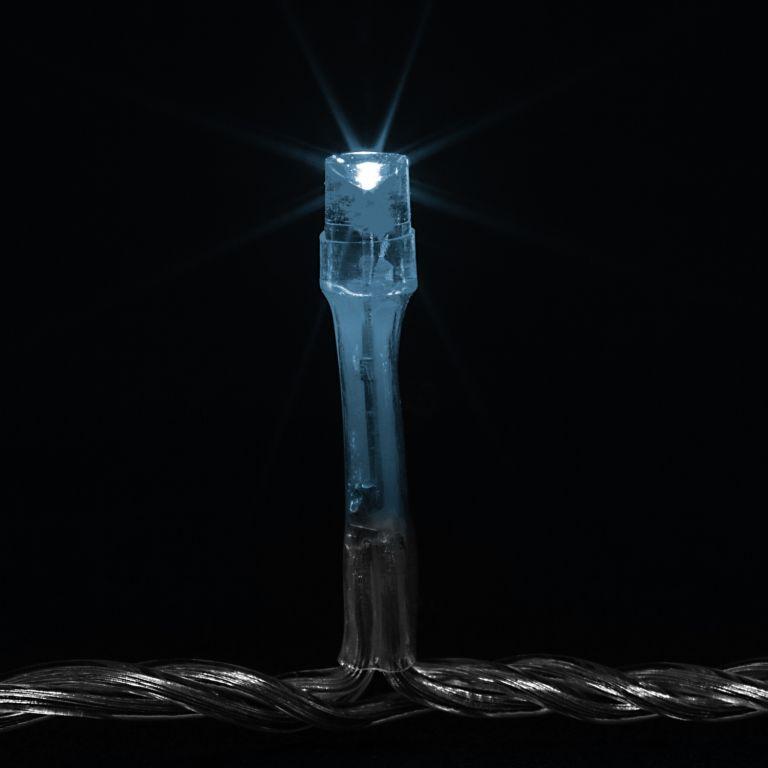 Vánoční LED osvětlení 5 m - studená bílá 50 LED + ovladač
