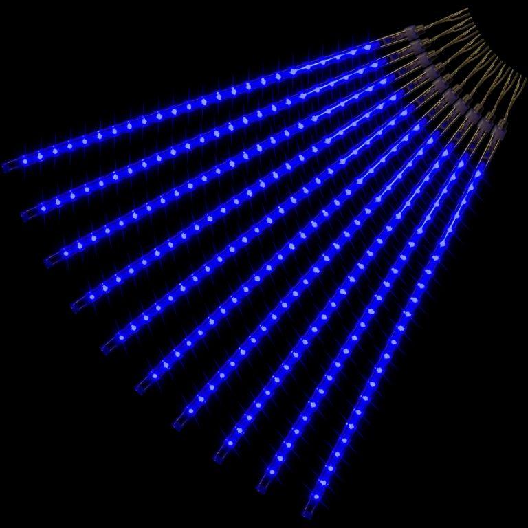 VOLTRONIC® 59797 Vánoční LED osvětlení - padající sníh - 240 LED modrá