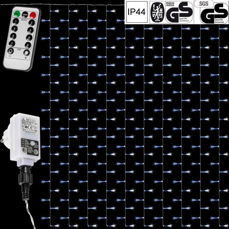 Vánoční světelný závěs – 3×6 m, 600 LED, studený bílý
