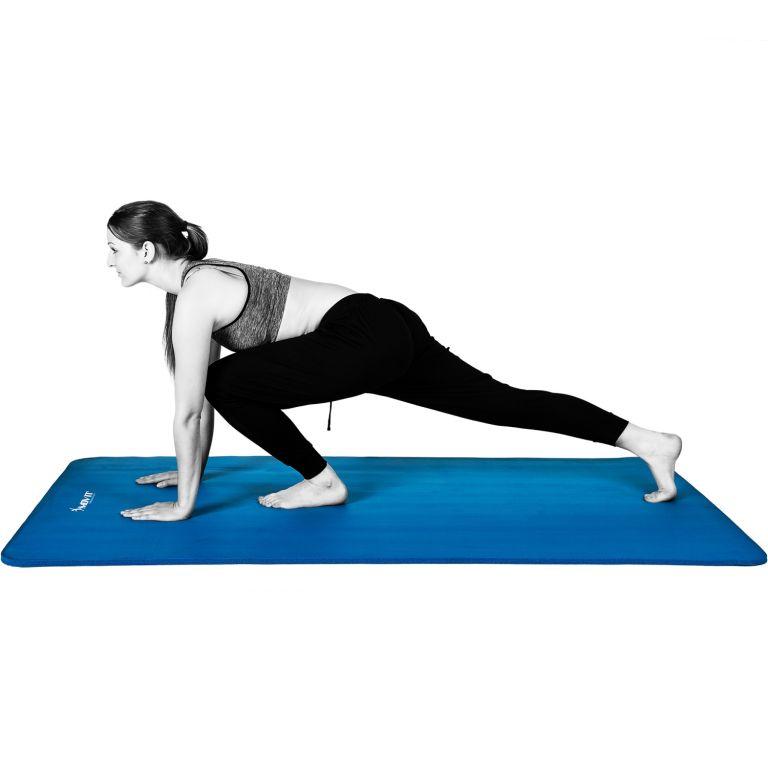 Gymnastická podložka Movit 183 x 60 x 1 cm – blankytně modrá