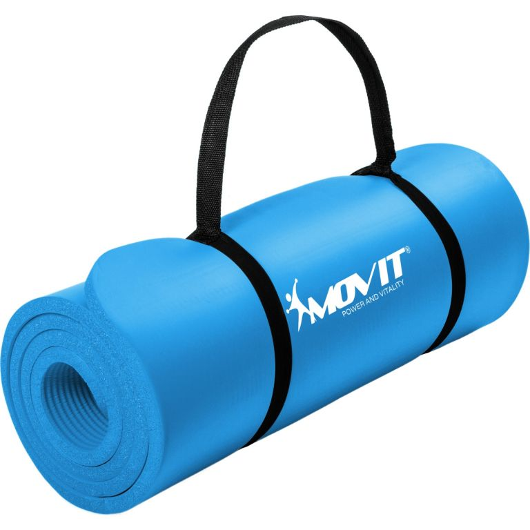 MOVIT Gymnastická podložka na jógu - 183 x 60 x 1 cm, modrá