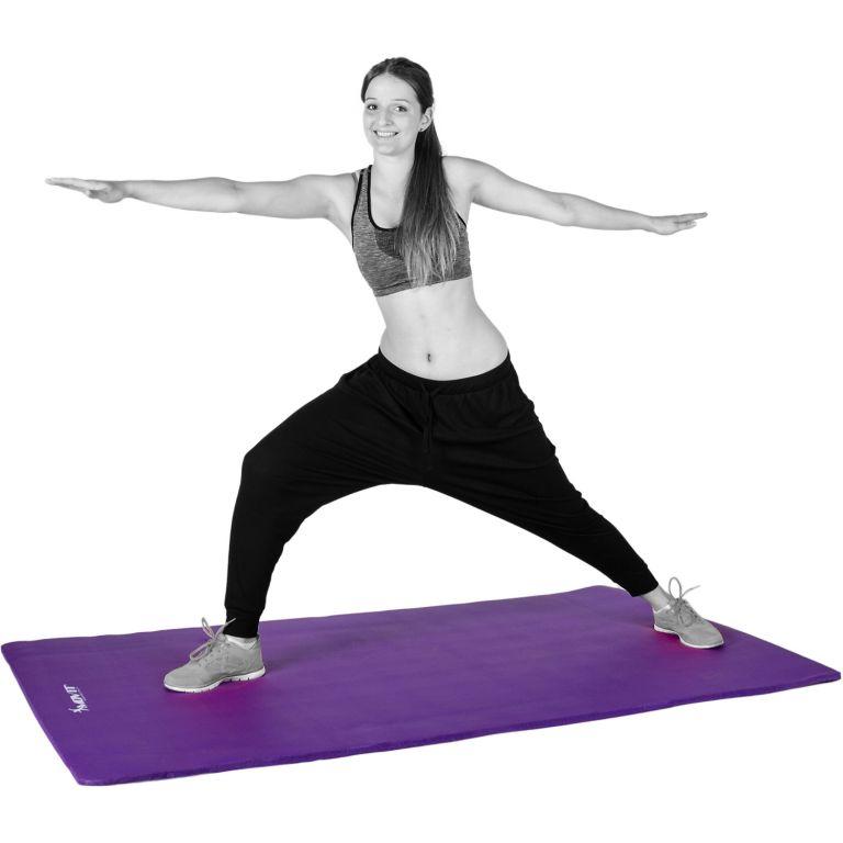 Gymnastická podložka Movit 183 x 60 x 1 cm - fialová