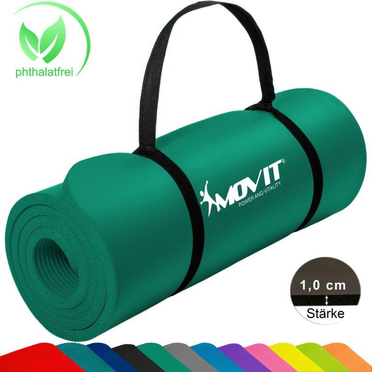Gymnastická podložka Movit 183 x 60 x 1 cm – tmavě zelená