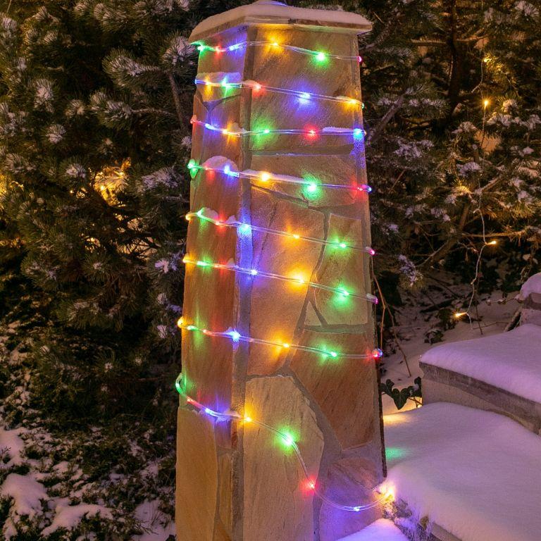 Solární světelná hadice – 100 LED, barevná