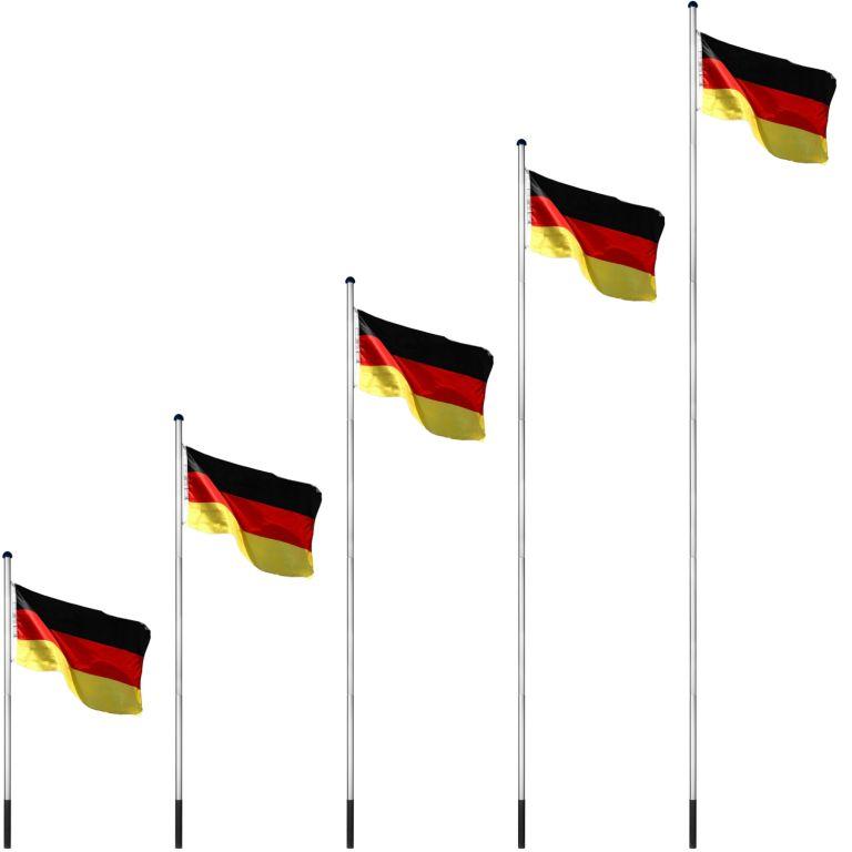 Vlajkový stožár vč. vlajky Německo - 650 cm