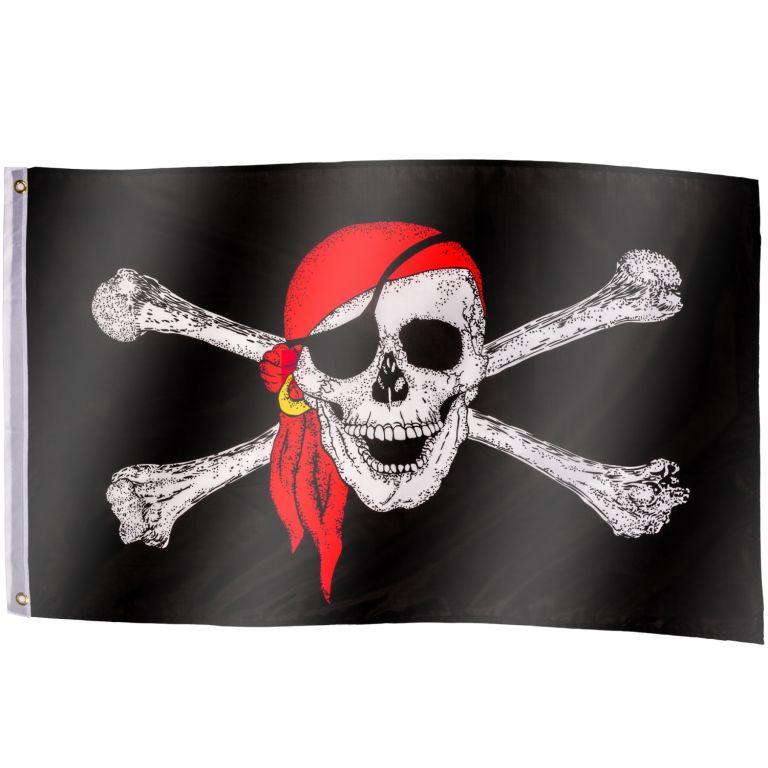 Pirátská vlajka Jolly Roger – 120 cm x 80 cm