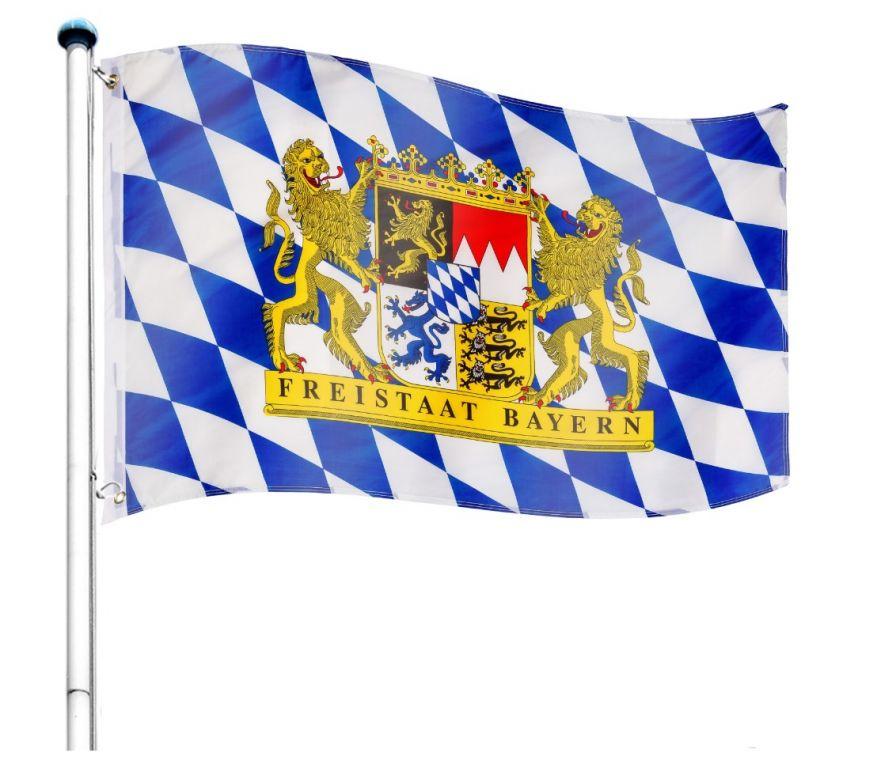 Vlajkový stožár vč. vlajky Bayern - 650 cm