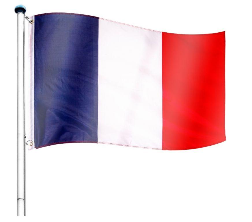 Vlajkový stožár vč. vlajky Francie - 650 cm